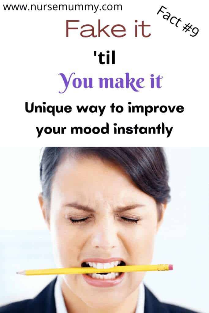Boost your mood and stress levels instantly by smiling. 10 health facts you dont know #mentalhealth #mentalawareness #mentalillness #healthfacts