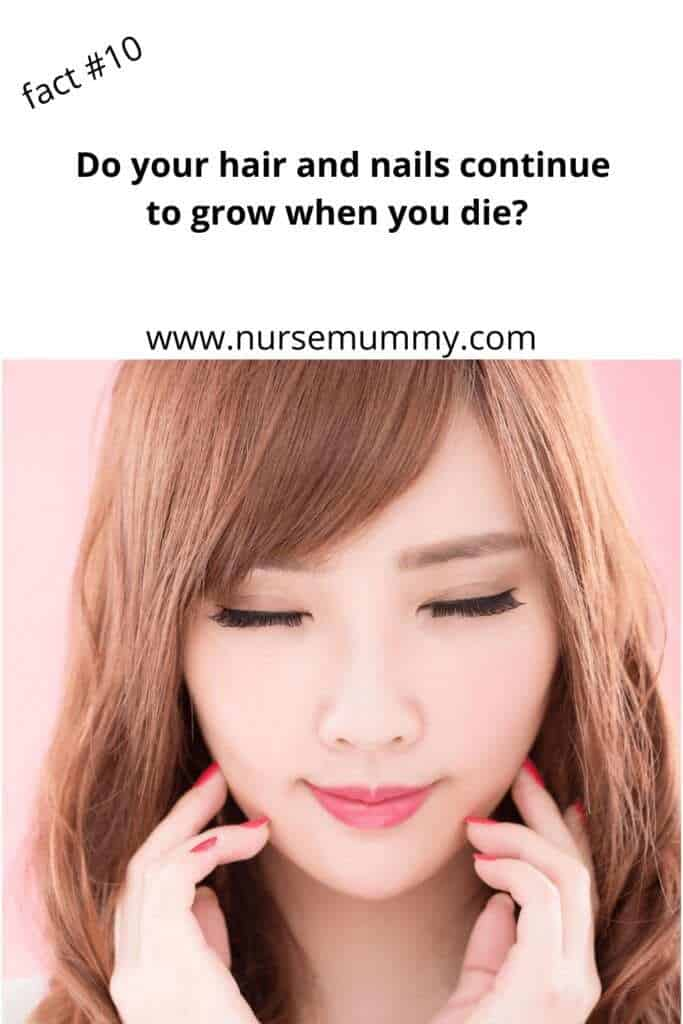 Does hair and nails keep growing after you die? 10 health facts you dont know #interestingfacts #healthfacts #learn