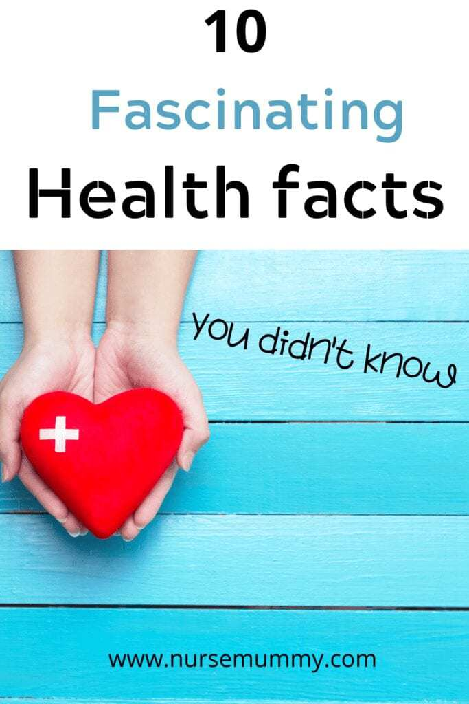 10 health facts you didn't know about. Learn something new #healthfacts #health #interesting facts #wellbeingfacts