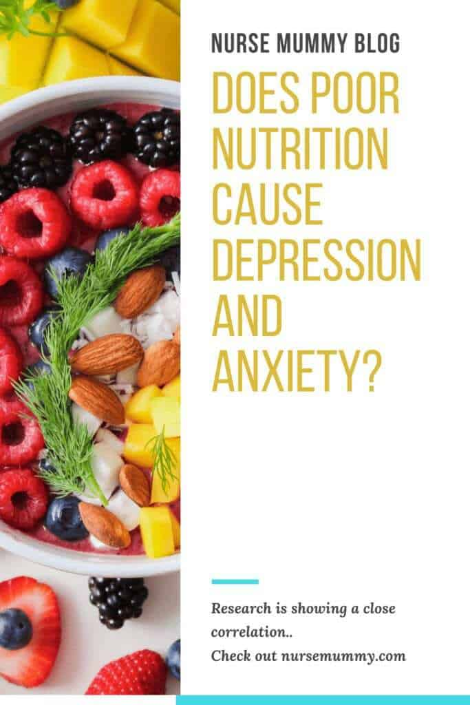 Does poor nutrition cause anxiety and depression? Recent research is linking poor nutrition to poorer mental health outcomes. There is also a link between gut health, serotonin production and depression and anxiety. Mental health awareness  and signs and symptoms of mental health has been some of the top searches, especially in covid 19 times.