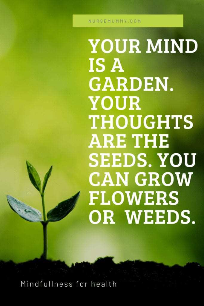 Will you grow weeds or flowers? Positive thoughts and mindfulness can affect all aspects of your life.
