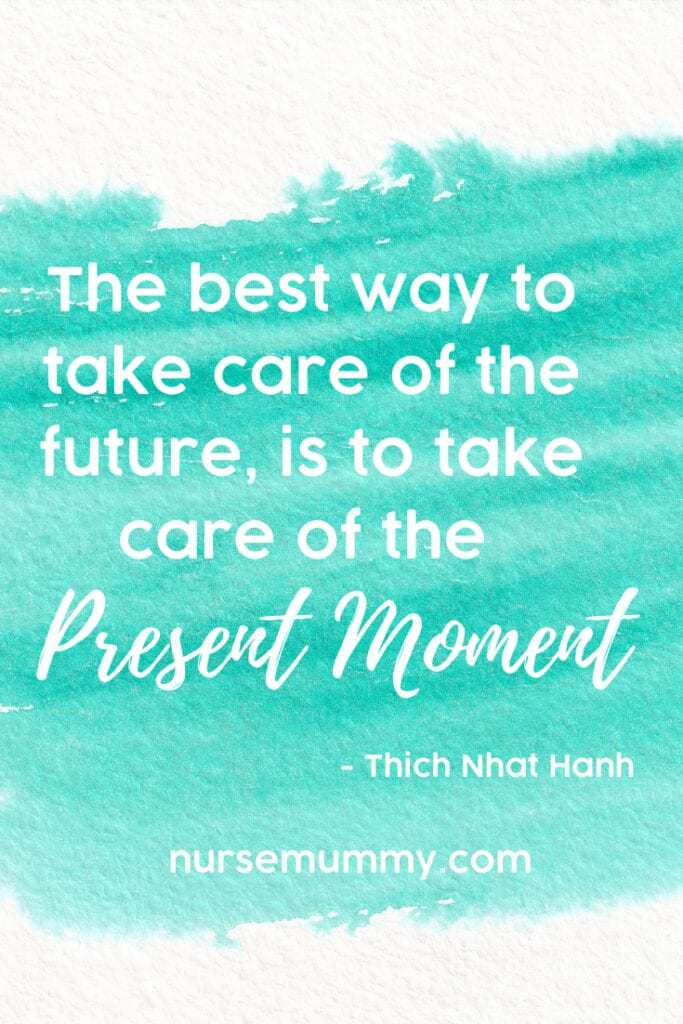 Present moment appreciation and mindfulness practice