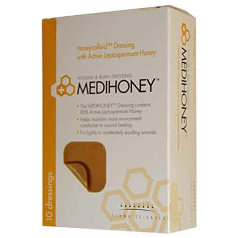 Medihoney Hydrocolloid wound dressing for pressure injuries and moist wound healing