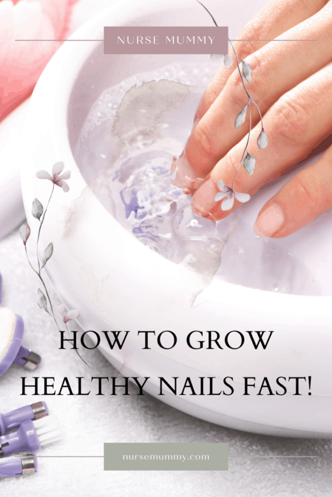 How to grow healthy nails fast by following these steps for nail health without chemicals or nail hardeners #healthynails #nails #prettynails #naildesign #naturalnails #nailtrends