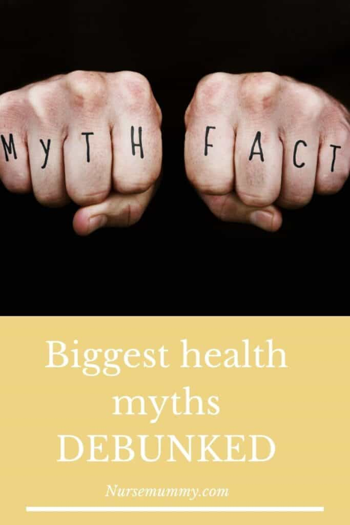 Health myths and facts are often intertwined. Let us break down for you, the facts and evidence to support some of the biggest health myths of today. #health myths #health Facts #awareness